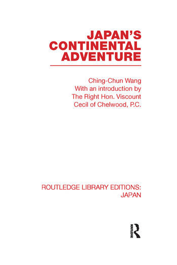 Japan's Continental Adventure book cover