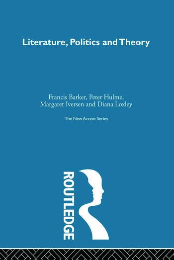 Literature Politics & Theory book cover