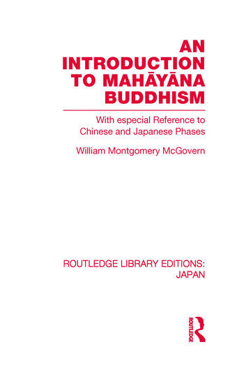 An Introduction to Mahāyāna Buddhism With especial Reference to Chinese and Japanese Phases book cover