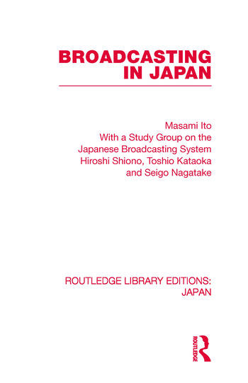 Broadcasting in Japan Case-studies on Broadcasting Systems book cover