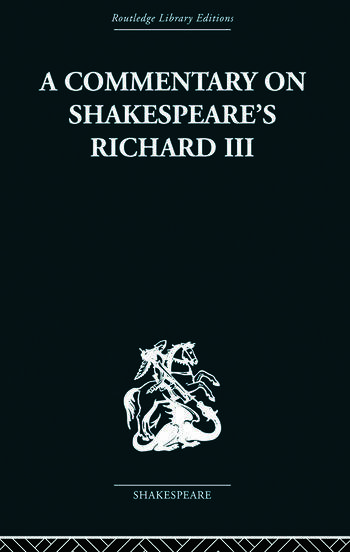 Commentary on Shakespeare's Richard III book cover
