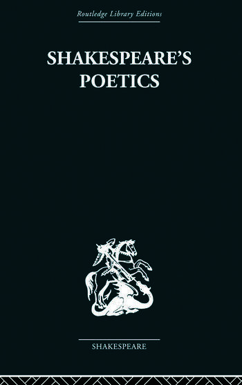 Shakespeare's Poetics In relation to King Lear book cover
