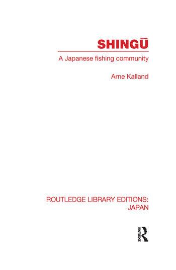 Shingu A Study of a Japanese Fishing Community book cover