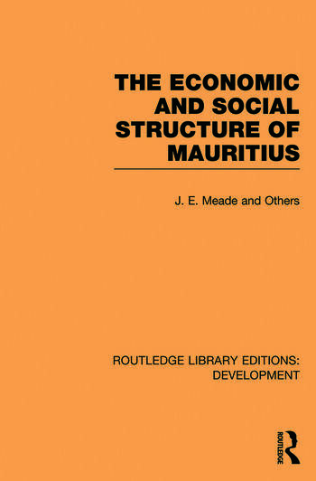 The Economic and Social Structure of Mauritius book cover