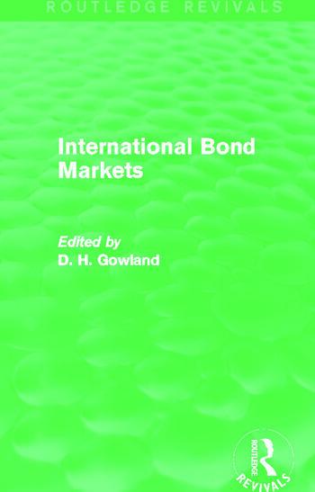 International Bond Markets (Routledge Revivals) book cover