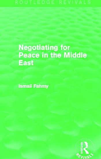 Negotiating for Peace in the Middle East (Routledge Revivals) book cover
