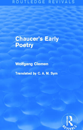Chaucer's Early Poetry (Routledge Revivals) book cover