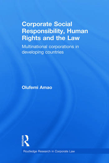 Corporate Social Responsibility, Human Rights and the Law Multinational Corporations in Developing Countries book cover