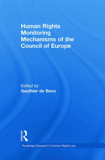 Human Rights Monitoring Mechanisms of the Council of Europe book cover