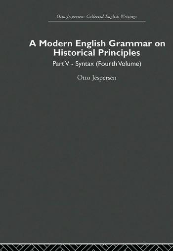 A Modern English Grammar on Historical Principles Volume 5, Syntax (fourth volume) book cover