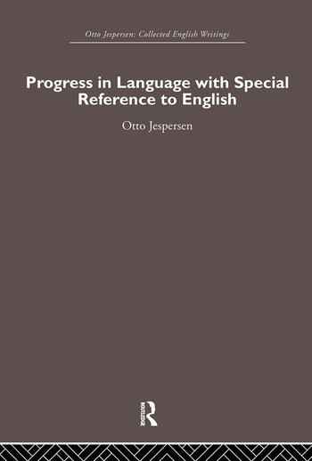 Progress in Language, with special reference to English book cover