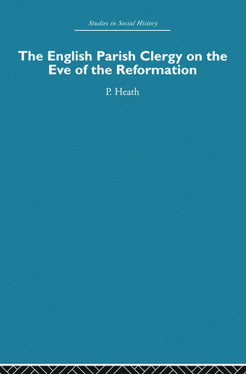 The English Parish Clergy on the Eve of the Reformation book cover