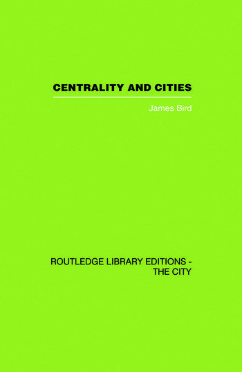 Centrality and Cities book cover