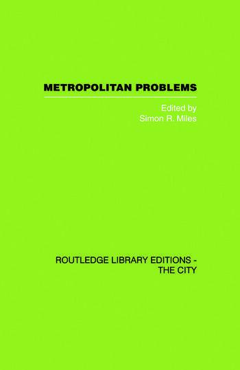 Metropolitan Problems book cover