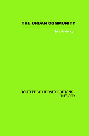 The Urban Community A World Perspective book cover