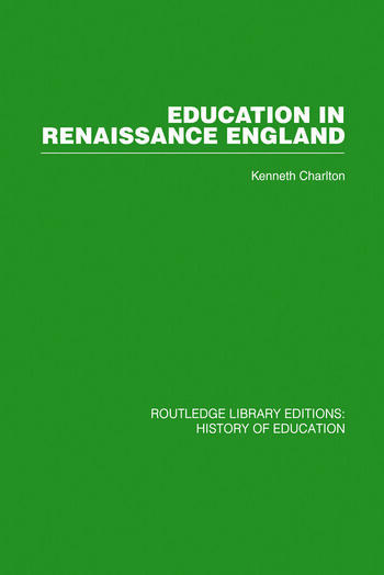 Education in Renaissance England book cover