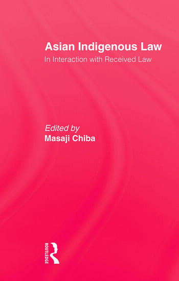 Asian Indigenous Law book cover