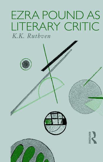 Ezra Pound as Literary Critic book cover