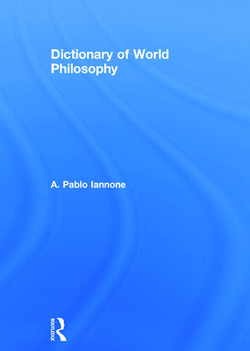 Dictionary of World Philosophy book cover