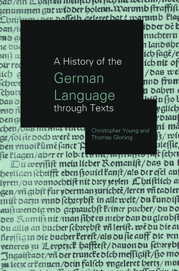 A History of the German Language Through Texts book cover