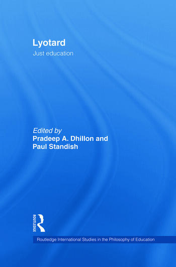 Lyotard Just Education book cover
