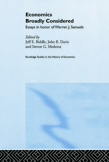 Economics Broadly Considered Essays in Honour of Warren J. Samuels book cover