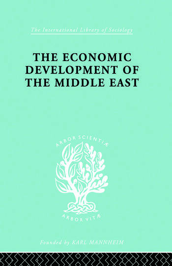 The Economic Development of the Middle East book cover