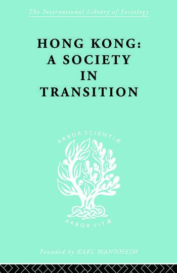 Hong Kong:Soc Transtn Ils 55 book cover