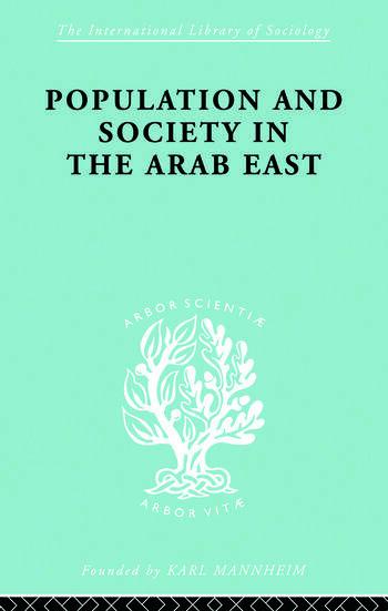 Populatn Soc Arab East Ils 68 book cover