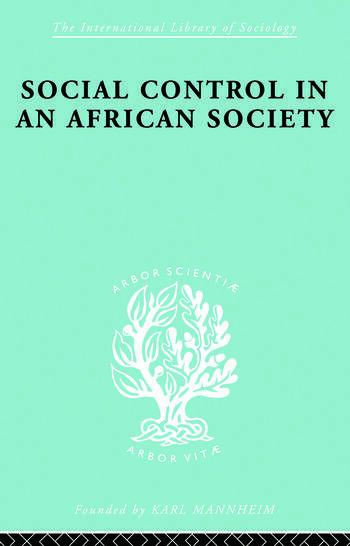 Socl Contrl African Soc Ils 72 book cover