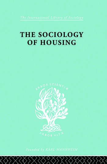 Sociology Of Housing Ils 194 book cover