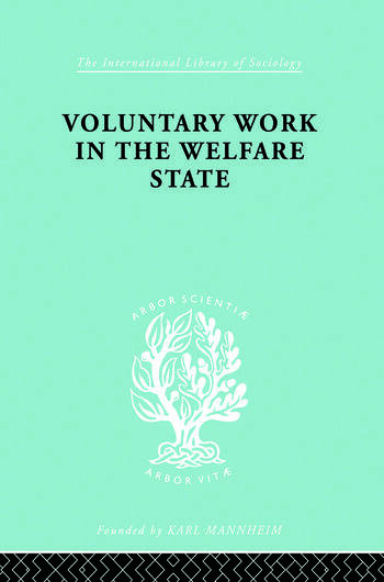 Volunt Work&Welf State Ils 197 book cover