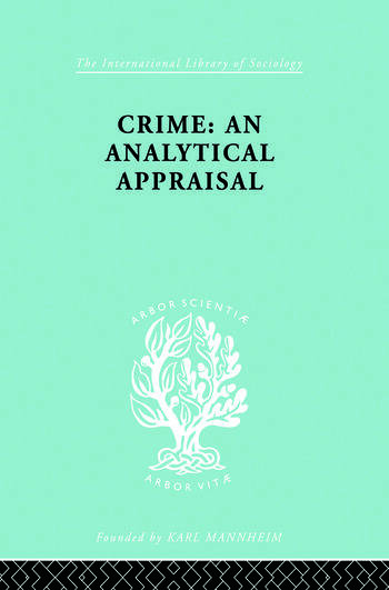 Crime:Analyt Appraisal Ils 201 book cover