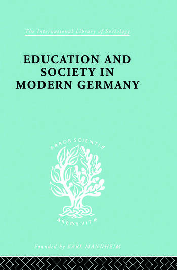 Education & Society in Modern Germany book cover