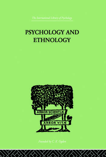 Psychology and Ethnology book cover