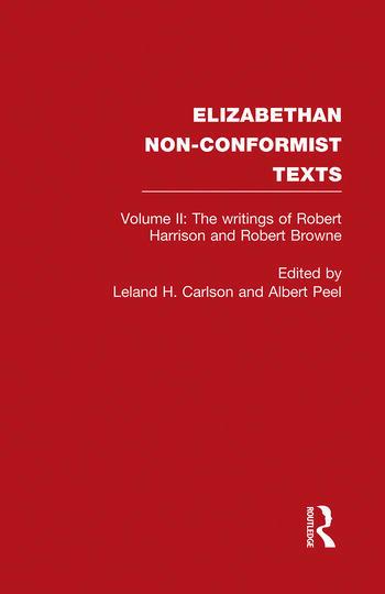 The Writings of Robert Harrison and Robert Browne book cover