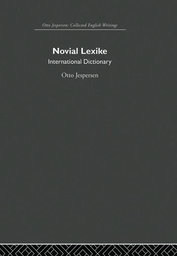 Novial Lexike book cover