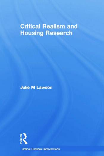 Critical Realism and Housing Research book cover