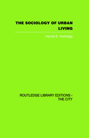 The Sociology of Urban Living book cover