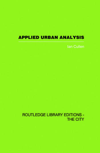 Applied Urban Analysis A critique and synthesis book cover