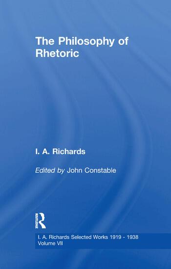 Philosophy Rhetoric V 7 book cover