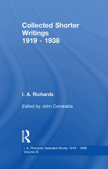 Collected Shorter Writings V9 book cover