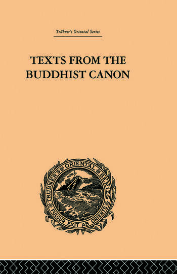 Texts from the Buddhist Canon Commonly Known as Dhammapada book cover