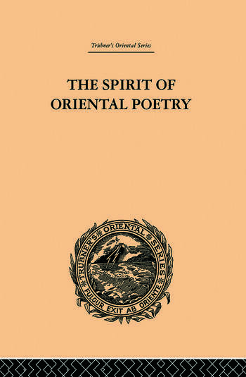 The Spirit of Oriental Poetry book cover