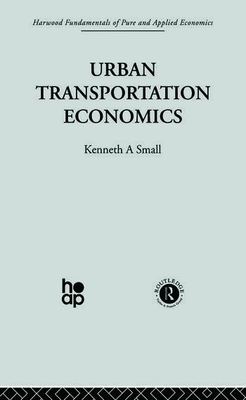 Urban Transportation Economics book cover
