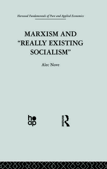 Marxism and 'Really Existing Socialism' book cover