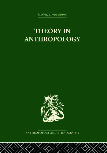 Theory In Anthropol Liban V86 book cover