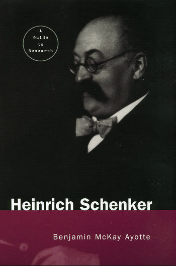 Heinrich Schenker A Research and Information Guide book cover
