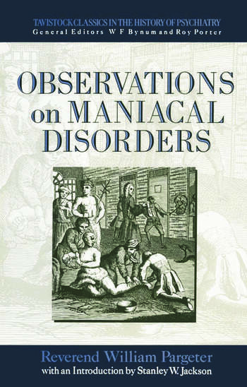 Observations on Maniacal Disorder book cover