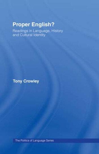 Proper English book cover